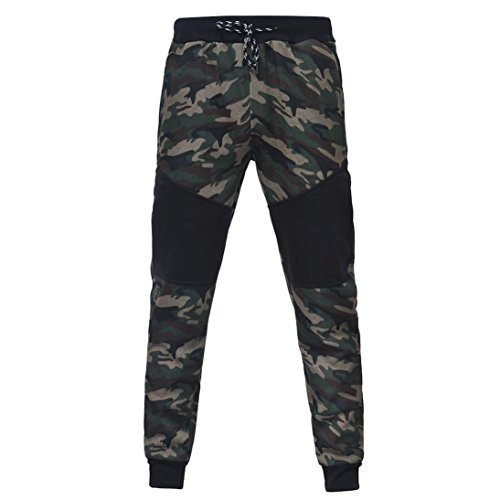 Men Sport Coat,Todaies Men's Autumn Winter Camouflage Sweatshirt+Pants Sets Sports Suit Tracksuit (Camouflage 2, M)