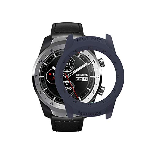 TicWatch Pro Case SIKAI Protective Anti-Scratch Bumper Cover for TicWatch Pro Smart Watch Ultra-Light Multi-Colors (Midnight Blue)