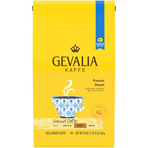Gevalia Dark French Roast Ground Coffee (20 oz Bag)