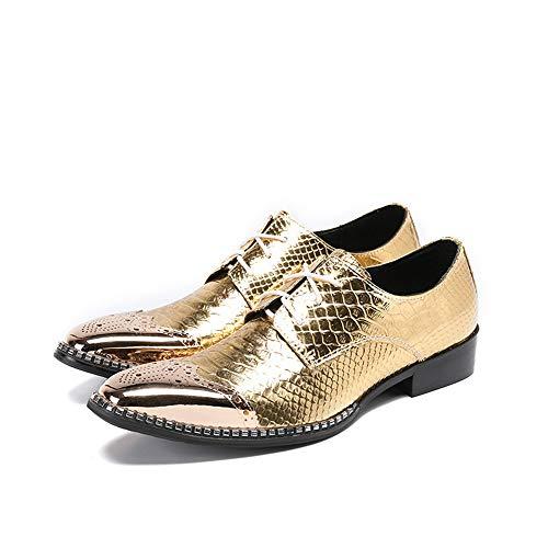 Scarpe 3 40 punta uomo business pelle in uomo 2 vintage primavera autunno per a scarpe da Chlyuan EU casual Dimensione qCnadxUSpq
