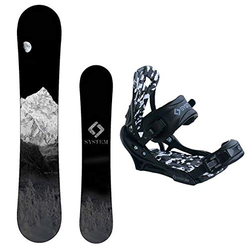 System MTN Men's Snowboard Package APX Bindings 2020