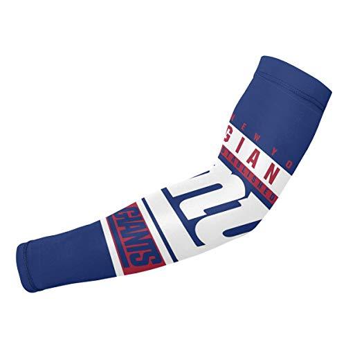 (Jacoci Custom New York Giants Cooling Arm Sleeves Sun UV Protection for Men & Women Sports)