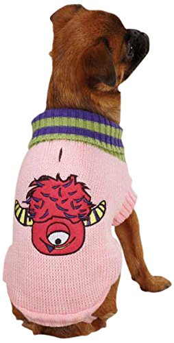 Casual Canine Lil' Monster Pet Sweater, XX-Small, Pink