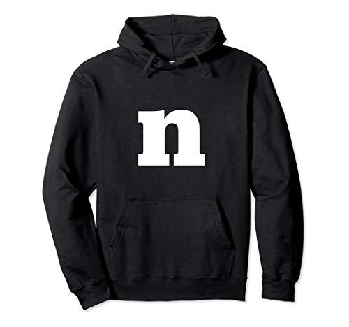 Letter N - Lower Case N - Alphabet Letter N Hoodie