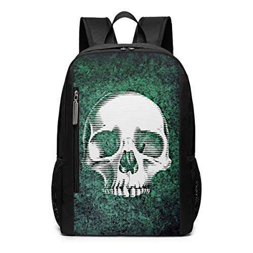 Skull and Crossbones Abstract Creepy Outdoor Travel Laptop Backpack Travel Accessories, Fashionable Backpack Suitable for 17 Inches