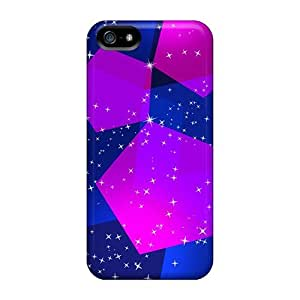 BrwESpq5593xBfyO Dana Lindsey Mendez Awesome Case Cover Compatible With Iphone 5/5s - Blue Pink Pentagons Abstract