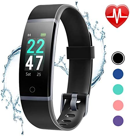 LETSCOM Fitness Tracker with Heart Rate Monitor, Color Screen Activity Tracker Watch, IP68 Waterproof Pedometer Sleep Monitor Step Counter Calorie Counter for Women Men Kids