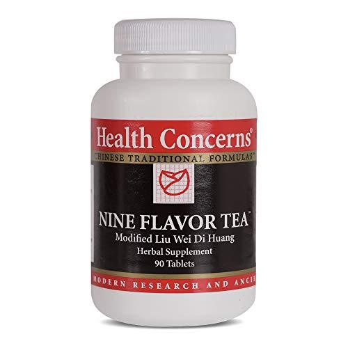 Health Concerns - Nine Flavor Tea - Modified Liu Wei Di Huang Herbal Supplement - 90 Tablets