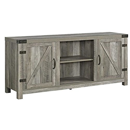 "Walker Edison 58"" TV Stand in Gray Wash"