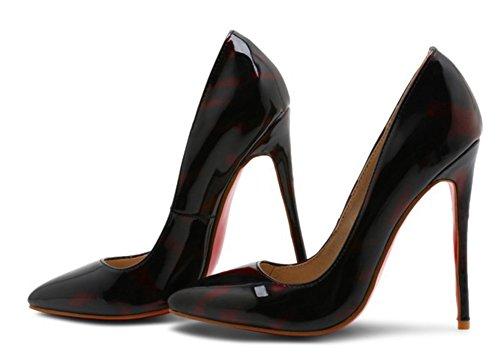 Aisun Mujeres Sexy Low Cut Elegante Pulido Puntiagudo Alto Tacón De Aguja Slip On Bombas Zapatos Rojos