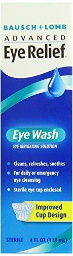 B&L Eye Wash Size Bausch & Lomb Advanced Eye Relief, Eye Wash Eye Irrigating Solution (Pack of 6)
