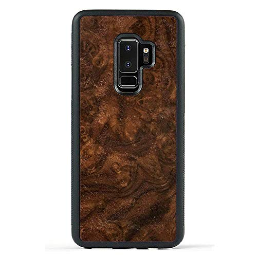 Carved | Samsung Galaxy S9 Plus | Luxury Protective Traveler Case | Unique Real Wooden Phone Cover | Rubber Bumper | Walnut Burl