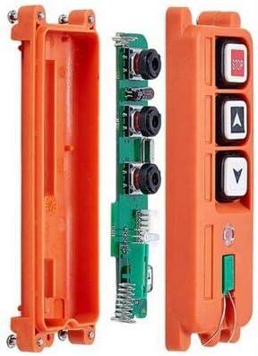 Color: Voltage18to65V VHF Calvas TELEcontrol Wireless crane remote control//Hoist wireless remote control F21-2S