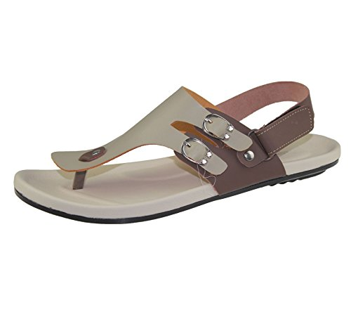 Herren veclro Sandalen Casual Beach Fashion Walking Slipper flip flop Beige