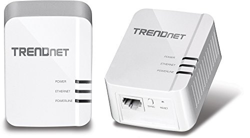 TRENDnet Power Line 1200 AV2 Adapter Starter Kit, 2 Adapters Included with Gigabit Port, Plug and Play, MIMO, Beamforming (TPL-420E2K) (Certified Refurbished) by TRENDnet