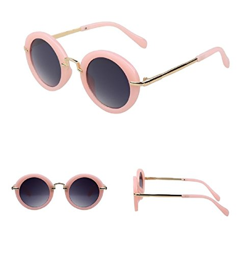 Fashion Round Kids Sunglasses Children Sun Glasses Anti-uv Baby Vintage Eyeglasses - Glasses Nude Girls