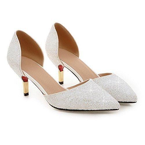 Balamasa Girls Paillettes Vuoto Placca Elettrotipia Miscela Materiali Pompe-scarpe Bianche