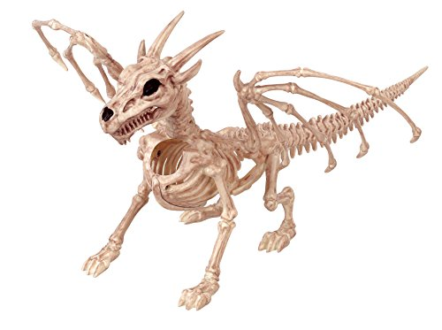 Crazy Bonez Skeleton Dragon Toy, Bone, White]()