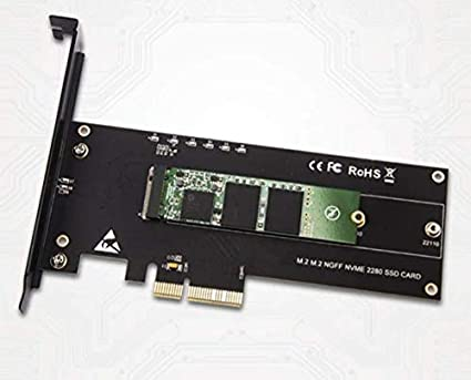 2280 and 22110 M.2 NVMe to PCIe Adapter AHCI or NVMe SSD to PCIe 3.0 x4 Adapter 2260 PCIe NVMe Adapter M.2 NVMe M-Key 2242 2242 Support M.2 Form Factors 2230 2260 Support M.2 PCIe 2280