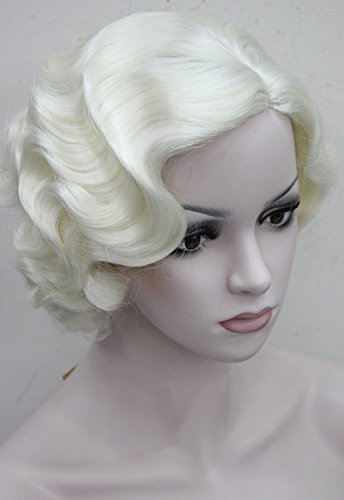 [StrongBeauty Vintage Marilyn Monroe Cosplay Wig Short Wavy Flapper Wig (613A)] (1920s Flapper Hairstyles)