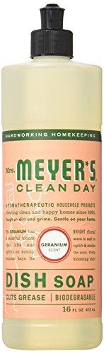Mrs. Meyer's Clean Day Dish Soap, Geranium, 16 oz