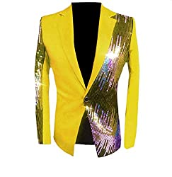 Men's Sequin Casual Top Jacket