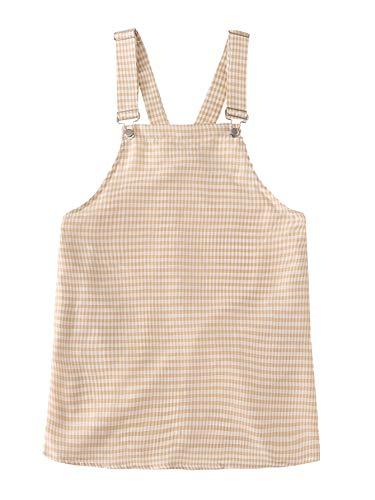 Floerns Womens Gingham Suspender Overall Pinafore Short Dress