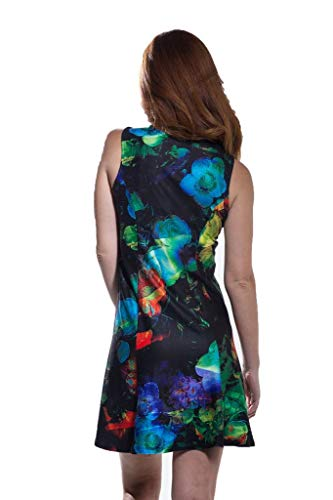 Sleeveless in Made XSmall Floral Summer Calison Dress Women's USA zwTEvqp