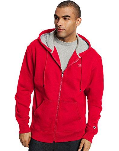Champion Men`s Powerblend Fleece Full Zip Jacket, 4XL, Team Red Scarlet by Champion (Image #4)