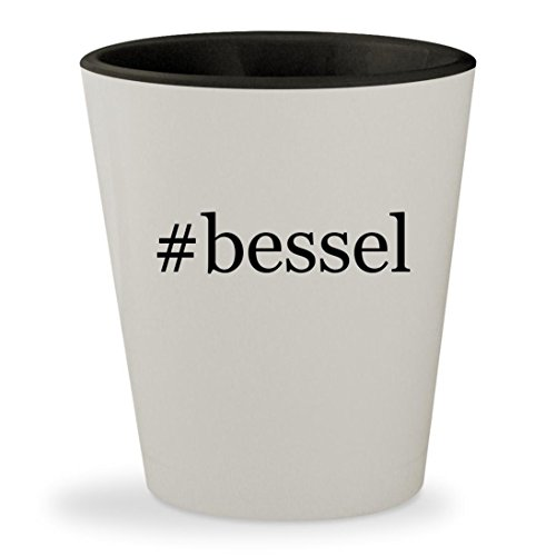 #bessel - Hashtag White Outer & Black Inner Ceramic 1.5oz Shot Glass