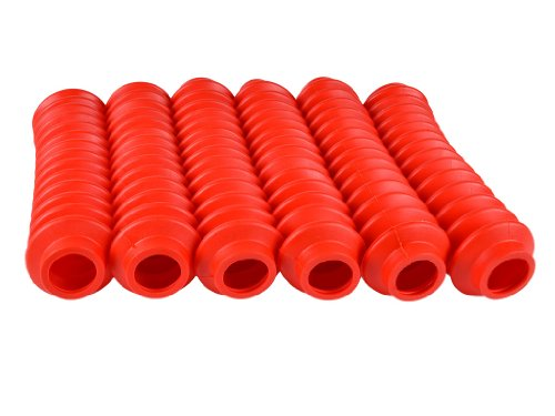 6 Shock Boots RED Fits Most Shocks for Jeep Universal Off Road Vehicles