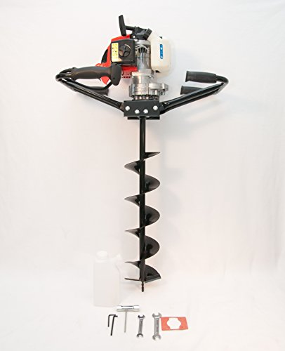 2 Man Hand Held Fence Post Hole Digger / Earth Auger w/ 6'' Bit 63 cc, 3 hp EPA by Tool Tuff