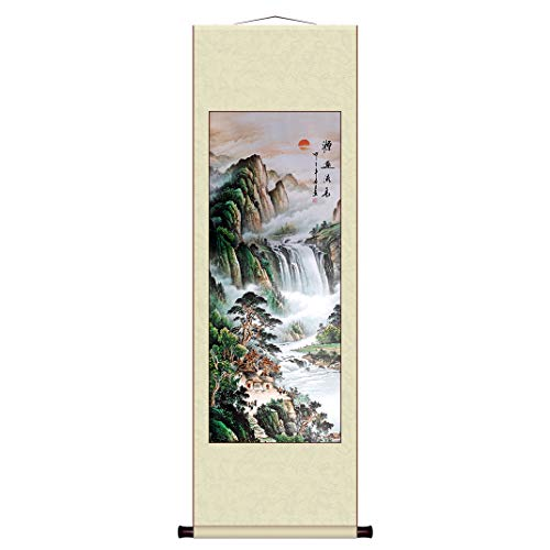 Chinese Painting Scroll by Wall Decoration Art Landscape Painting C-A001-3