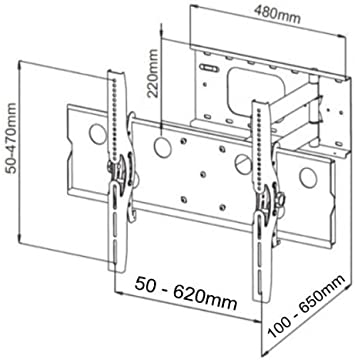 Intecbrackets - Extra fuerte 80 kg soporte de pared para televisor con inclinación y giro de burbuja para televisores de 37 39 40 42 43 44 46 47 50 52 55 57