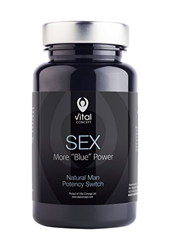 SEX - Stamina and Aphrodisiac Pill for Man, Fighting Low Libido. Helps with Male Erectile Dysfunction or Impotence. Tablets to Control Premature Ejaculation. 60 Veggie Capsules, GMO and Gluten Free