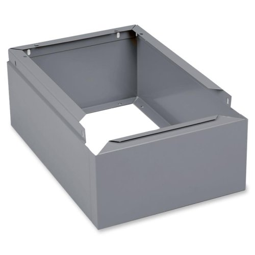 "Wholesale CASE of 10 - Tennsco Locker Bases-Locker Base, Closed 1-wide, 12""x18""x6"", Medium Gray"