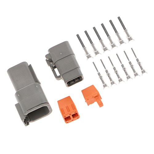 MagiDeal 1 Kit 6 Way Sealed Waterproof Electrical Wire Connector Plugs Terminals Set:
