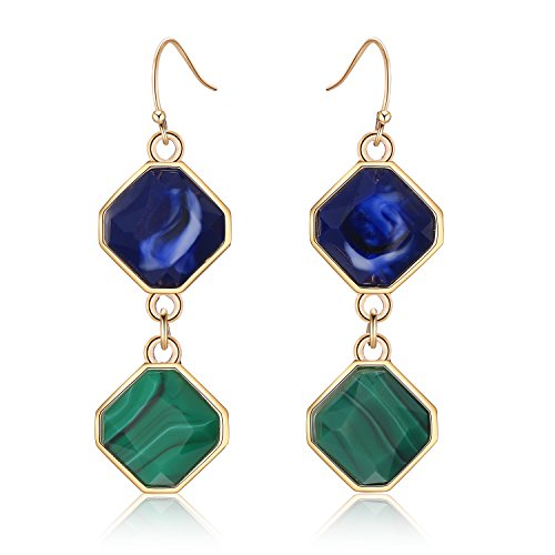 LILIE&WHITE Geometric Hanging Drop Earrings in Square Shape with resin Dangle Jewelry For - In Square Shape