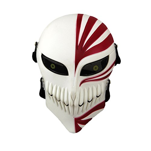 CCTRO Airsoft Skull Face Mask, Full Face Protective Tactical Masks Gear for Airsoft Paintball Outdoor Cs War Game BB Gun Cool Scary Ghost Halloween Party Mask