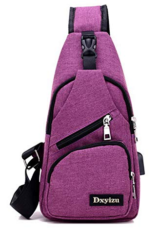 Cross Zippers Handbags Satchel Fashion Purple Women's Body WeenFashion AMGBX181339 Canvas nEwvqXx06