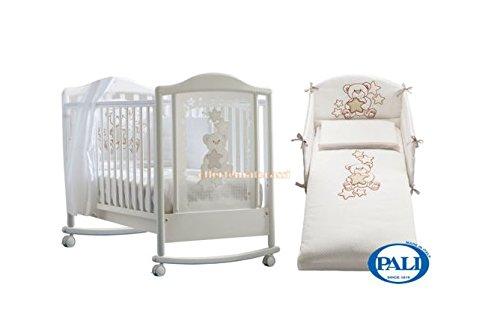 Kinderbett Pali Meggie + Set Textil koordinierten weiß Kinderbett Kinder Baby