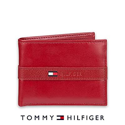 Tommy Hilfiger Men's Thin Sleek Casual Bifold with 6 Credit Card Pockets