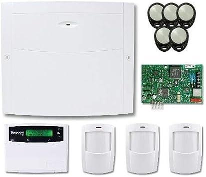 Texecom KIT-0040 Premier Elite - Kit de alarma de 24 zonas con teclado, comunicador PIR y teclados