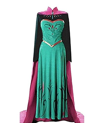 (Peachi EA4 Adult Princess Coronation Dress for Halloween Costume Cosplay Party S-XXL)