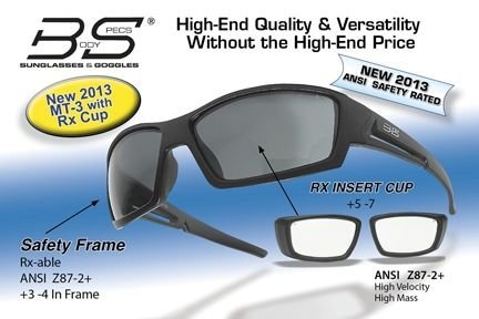 Body Specs MT-3 BLK FRAME/RX-CUP Matt Black Frame With Rx Cup Sunglass