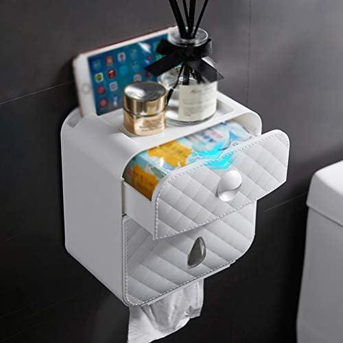 防水トイレットペーパーホルダー、トイレットペーパートレイ用ウォールマウントペーパーシェルフロールペーパータオルホルダー収納ボックス浴室付属品