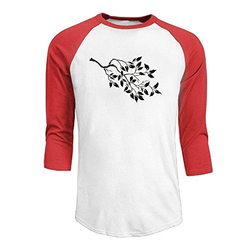 New Mens T-shirt Tree Branch - 3/4 Raglan Sleeve T Shirts for Men Black Tree Branch Custom Baseball Jerseys