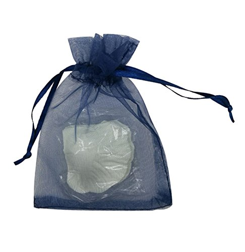 SUNGULF 100pcs Organza Pouch Bag Drawstring 4