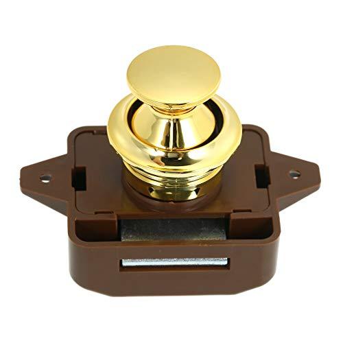 Jonathan-Shop - Large Push Button Cabinet Latch for Rv/Motor Home Cupboard Caravan Lock for Cupboard Door Push Latch Lock Knob Camper ()