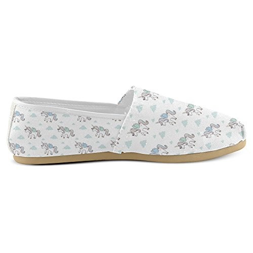 Womens Loafers Canvas 26 On Shoes Flats InterestPrint Multi Casual Fashion Classic Slip Sneakers d5qdawR